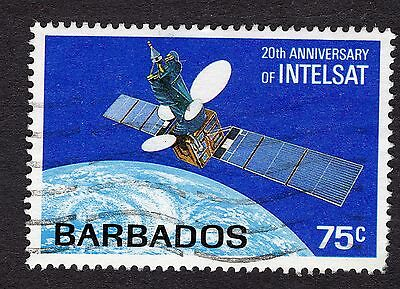 1985 Barbados 75c 20th Anniv Intelsat SG788 FINE USED R31753
