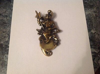 Vintage Brass Knight Door Knocker