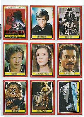 Star Wars Return of the Jedi S1 - Complete Card Set (1-132) 1983 O-Pee-Chee OPC