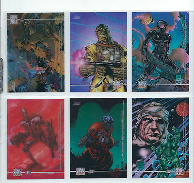 Star Wars Galaxy Series 3 - Complete Clearzone Chase Card Set (E1-E6) Cel