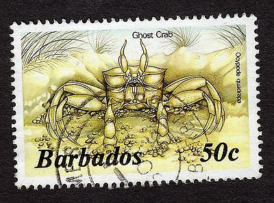1985 Barbados 50c Ghost crab SG803b FINE USED R31771