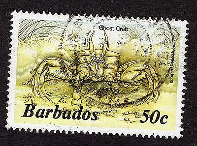 1985 Barbados 50c Ghost crab SG803b FINE USED R31774