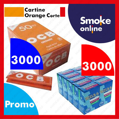 3000 (1box) Cartine OCB ORANGE Corte e 3000 (2 box) Filtri RIZLA SLIM BIANCHE
