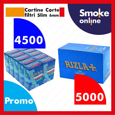 5000 Cartine RIZLA BLU CORTE e 4500 Filtri RIZLA SLIM 6mm