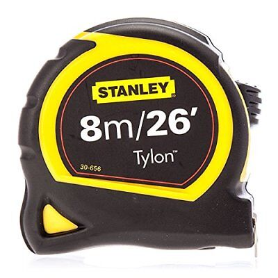 Stanley Sta130656n Pocket Tylon Tape 8 M/26 Feet (25 Mm) Yellow & Black Improved