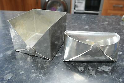 RARE Jean Goardere Etain Fait Main French Art Nouveau pewter Napkin Holder x2