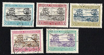 Liberia stamps. 1923 The 100th Anniversary of the Landing of the First Cancelled