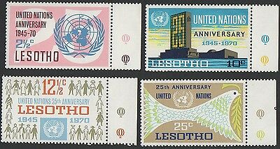 Lesotho stamps.1970 The 25th Anniversary of United Nations. Set 2. MLH