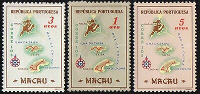 Macau stamps. 1956 Maps. MLH