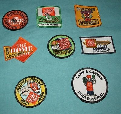 Lot Of 8 New = Patch / Badge = Home Depot Embroidered