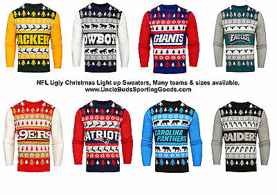official photos ccf43 bee1d NFL MENS LIGHT Up Ugly Christmas Sweater