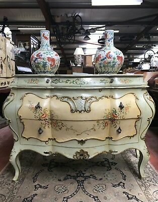 Vintage Venetian handpainted commode/chest