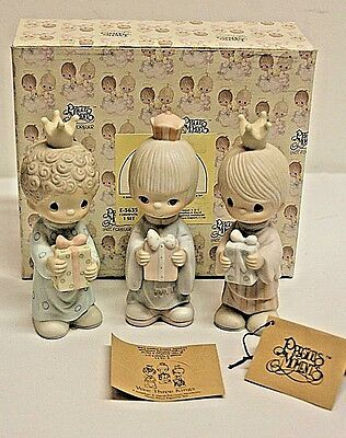 1981 PRECIOUS MOMENTS Figurine 'Wee Three Kings' E5635 RETIRED In Box, With Tags