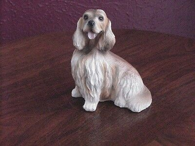 "Spaniel Resin Collectible Dog 4"" Tall"