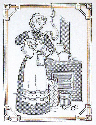 BLACKWORK 'Country Wife' - Country Threads Cross Stitch Chart
