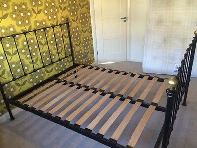 Victorian Style Metal Double Bed and Mattress