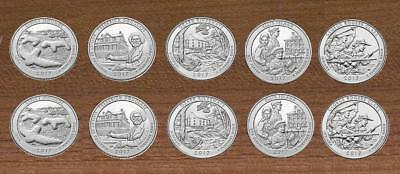 2017 National Park Quarters  P& D Yearly Uncirculated coin set to date
