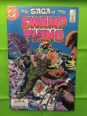 THE SAGA OF THE SWAMP THING # 22 (F/VF)•3rd ALAN MOORE Issue•Classic Stuff•