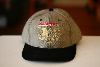 Rare Vintage NISSIN Budweiser Golden Gloves Boxing Saint Louis STL Spell Out Hat