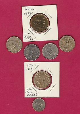 Mexico - Nice Mix coins 10 centavos up to 100 Pesos for Travellers or Collectors