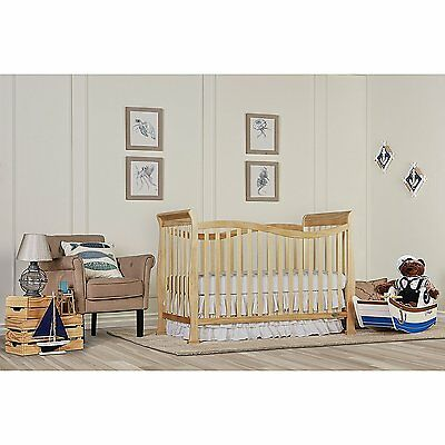 7 in 1 Convertible Crib for Baby Toddler Daybed Full Infant Nursery Natural