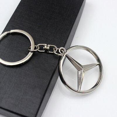 For Mercedes Benz 3D Metal Car Logo keyring keychain Pendant Holder key chain