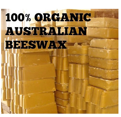 100% Pure Natural Australian Beeswax block suit cosmetics, candle unbleached 1kg