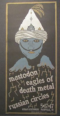 Mastodon Eagles Of Death Metal Russian Circles Hatch Show Print Poster Nashville