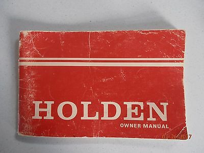Holden HQ glovebox owners manual