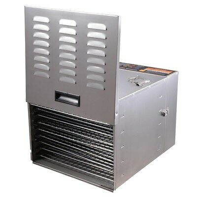 1200W 10 Tray Food Dehydrator Stainless Steel Fruit Dryer Jerky Maker Commercial