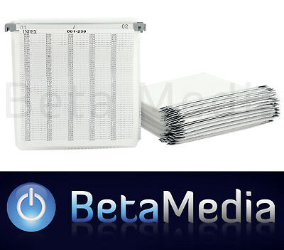 100 x Plastic DVD / CD Sleeves with Bridge and Index