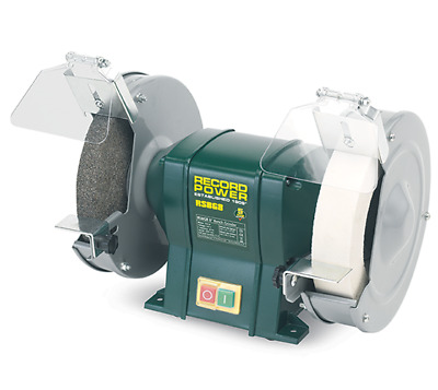 "RSBG8 8"" Bench Grinder with 40mm Whitestone  - Record Power"