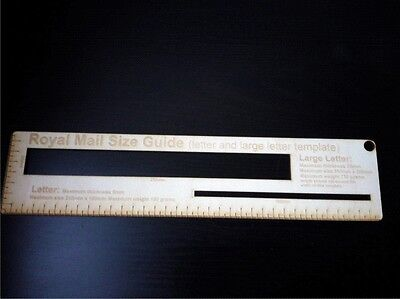 Royal Mail letter/large letter size guide template ruler Post Office price