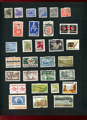 Canada Album Page Of Stamps #V5489