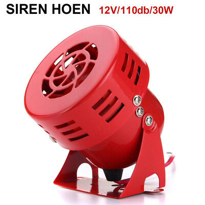 110dB 12V Car Truck Alarm Police Fire Loud Speaker PA Siren Horn 30W Waterproof