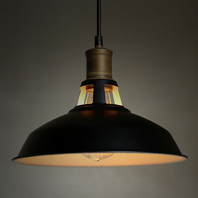 Vintage Lighting Antique Industrial Barn Hanging Pendant Light with Metal Dome