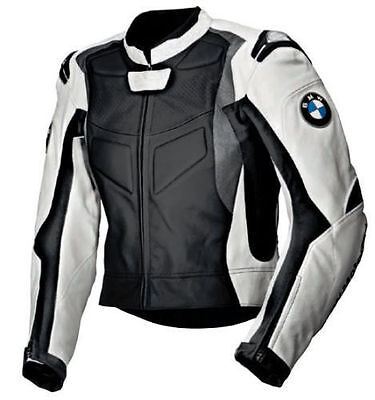 Mens Multi Colour BMW Motorcycle Racing Biker Leather Jacket (SPECIAL OFFER )