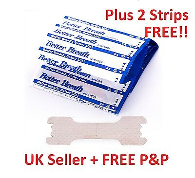 5 - 200 BETTER BREATH NASAL STRIPS Reg Large RIGHT WAY TO STOP / ANTI SNORING UK