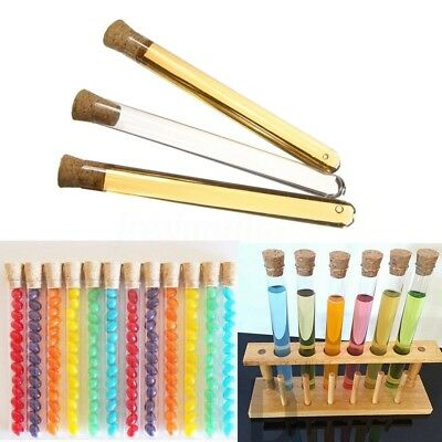 50/100pcs 20ml Plastic Test Tubes With Corks Caps Wedding Favors Candy 16x150mm