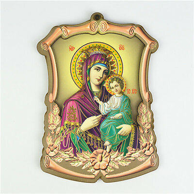 Wooden Religious Holy Mother & Child Picture Orthodox Saint Picture Wall Plaques