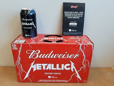 METALLICA BEER UNOPENED CASE 15X355ml BUDWEISER SPECIAL EDITION NEW VERY RARE