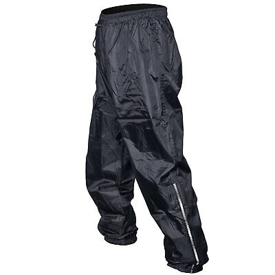 Drytec Waterproof Motorcycle Motorbike Lined Over Trousers Pants Jeans Black