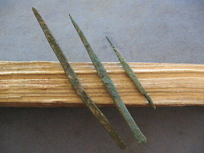 3 Bronze Age Arrowheads Ancient Illyrian Bronze Weapons 1000-800 B.c.
