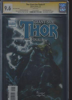 Thor Giant Size Finale 1 CGC SS 9.6 Finch variant signed by David Finch