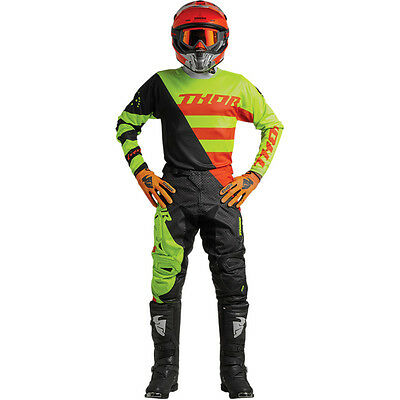 New 2018 Thor Fuse Air Vent Jersey Pant Kit Motocross 32 34 36 Rive Lime Orange