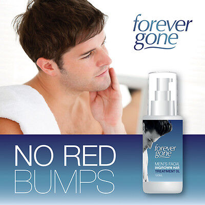 Forever Gone Men Facial Ingrown Hair Treatment Oil – Stops Razor Irritation