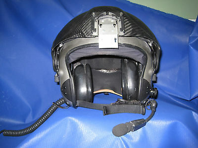 Alpha Eagle helicopter helmet with dual visors- metallic silver size Med Long