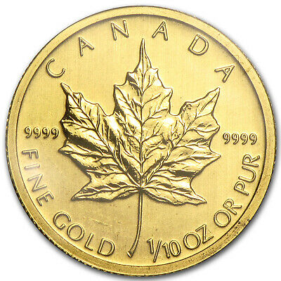 2011 Canada 1/10 oz Gold Maple Leaf BU - SKU #59144