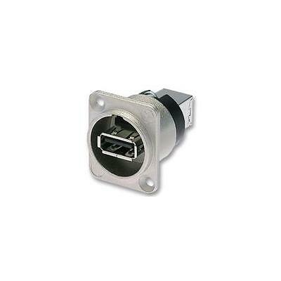NAUSB Neutrik USB Adapter, D Typ, Nickel