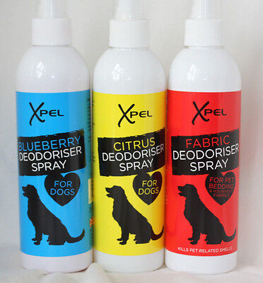 Doggie Deodoriser - Spray for Dogs / Spray for Fabrics - 3 x Fragrances to choos